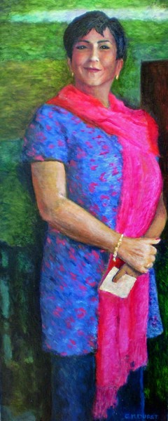 Lady With A Pink Scarf