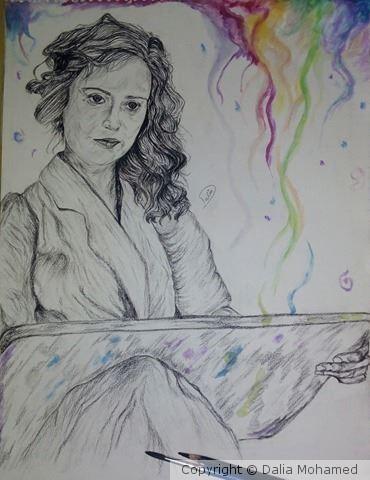 The painter Gerda