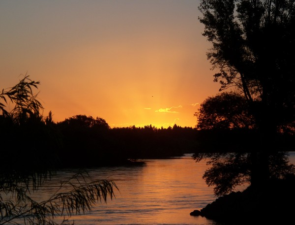 So romantic Patagonian sunset