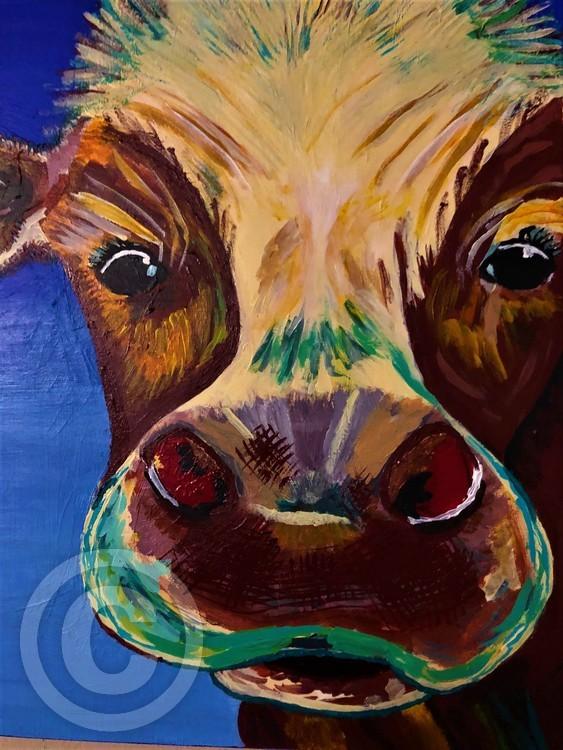 Tie-dyed Happy Cow CU