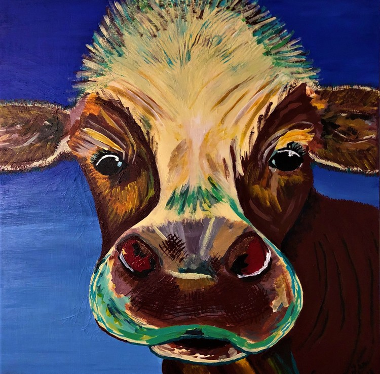 Tie-dyed Happy Cow
