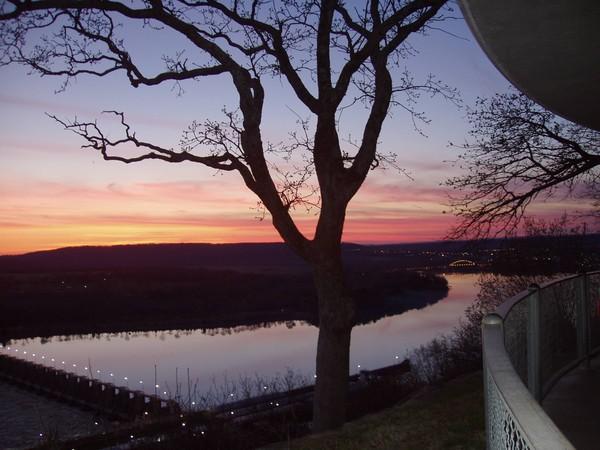 Sunset Arkansas River at Ozark