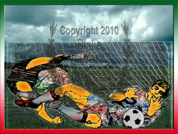 Soccer field goal shot