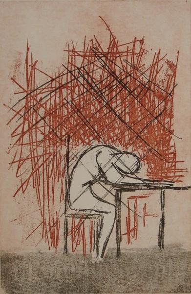 Franz Kafka The Trial - K. at the desk