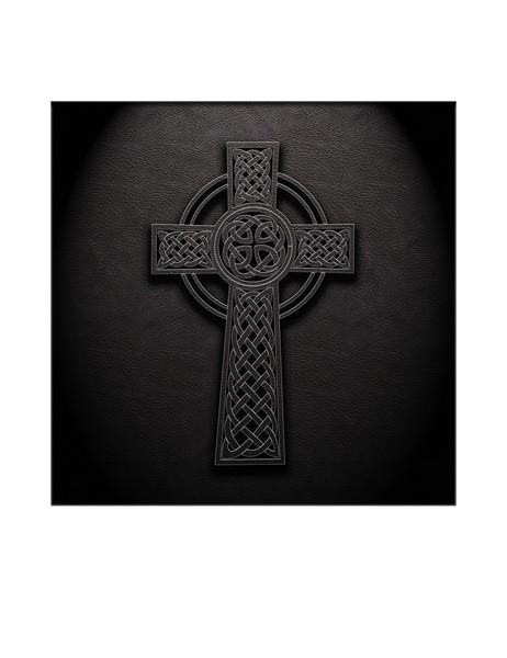 Celtic Knotwork Cross 01 - Leather Texture 01