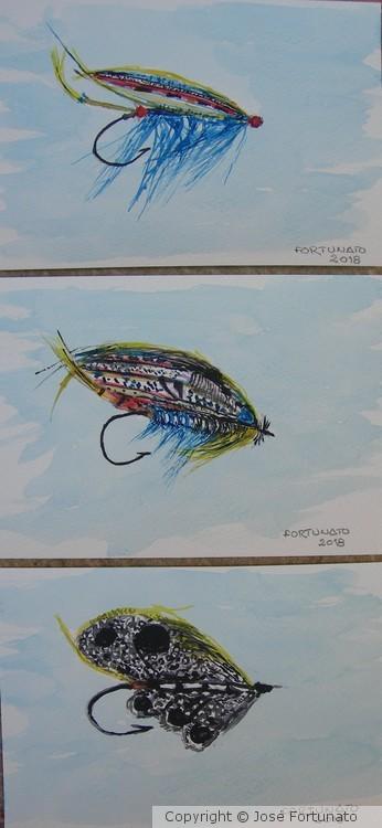 Fishing flie hangers
