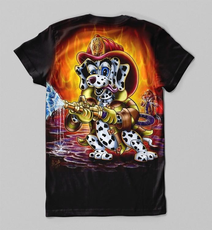 K9 Fire Fighter Black Tee Shirt