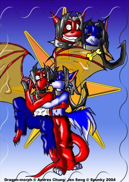 Dragon-morph & Spunky
