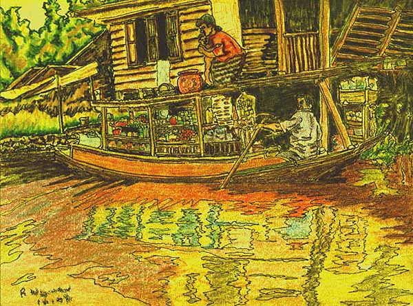 Shopping in the Klong(Canal)