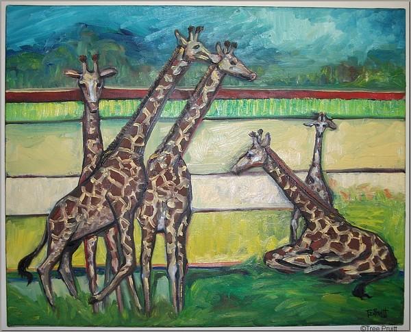 Giraffe Herd Contemporary