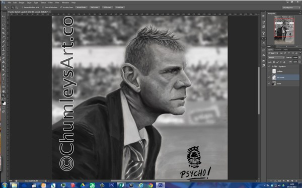 Stuart Pearce - digital painting CLOSE UP