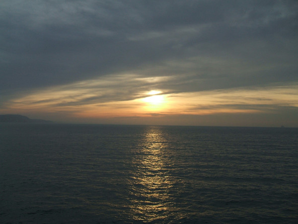 Sundown over the Channel
