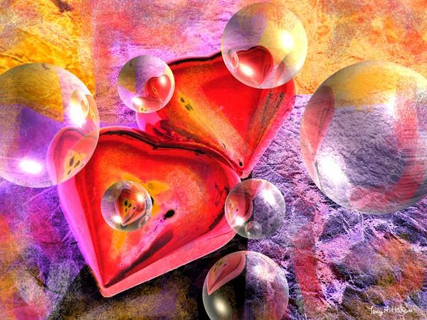 Kiss of Hearts Pastel Fantasy