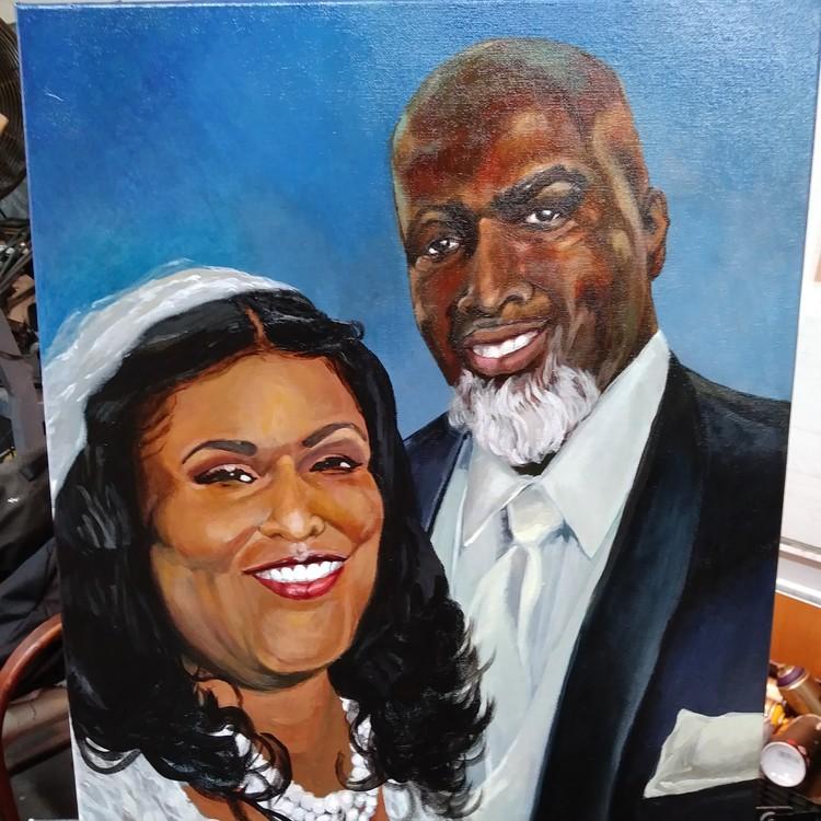 Acrylic&Oil Commission Portrait