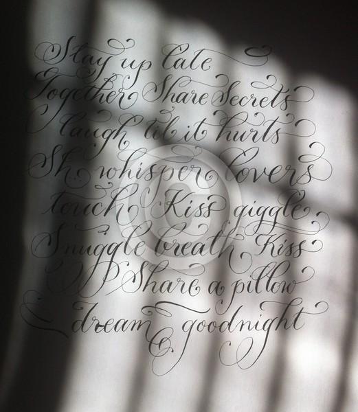 Romantic quote calligraphy art