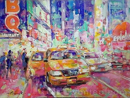 NYC. Night cab