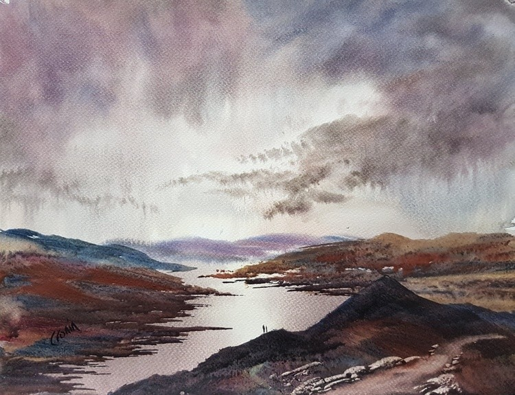 Loch Katrine From Ben A'an, Highlands, Scotland