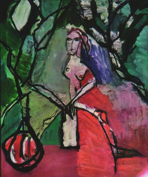 Woman under the trees