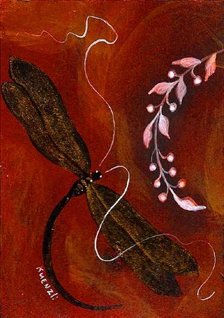 Black & Gold Dragonfly