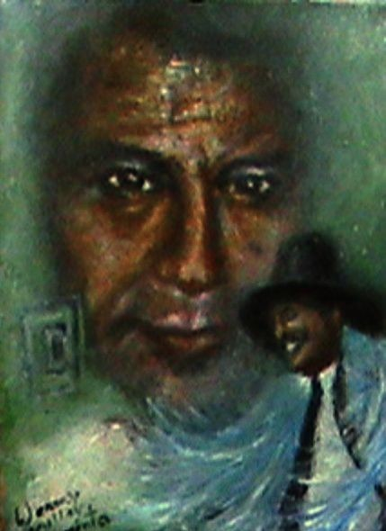 El maestro Jesus La Madrid öleo sobre lienzo 2015 13x10cm - copia