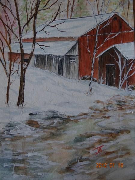 Silent Winter - Watercolor