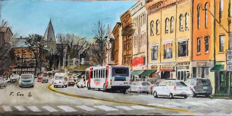 Street Scene of New England City