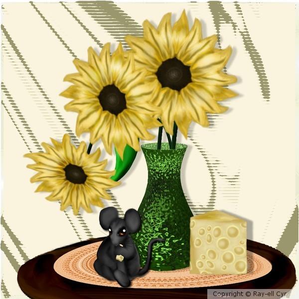 Lunch under sunflowers