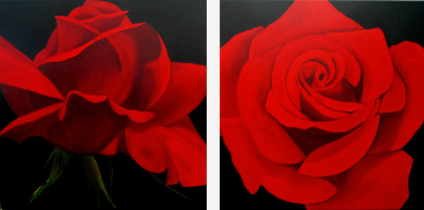 Diptych Red Roses