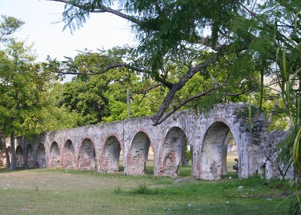 Aqueduct & Sign, University of West Indies Campus