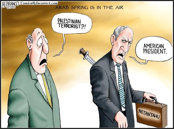 Arab Spring in the Air (Cartoon)