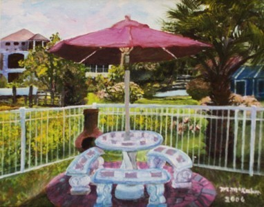 Painting of sons backyard in 2006