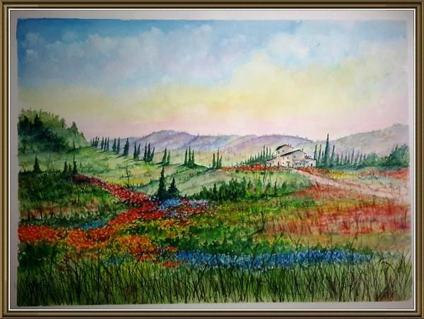 Colorful Tuscany Farm