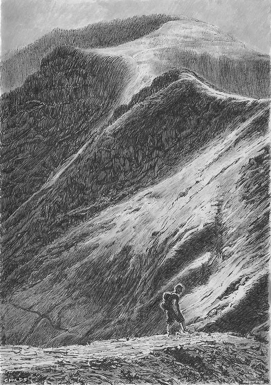 Snowdon, Snowdonia National Park, North Wales Pen and Ink Drawing