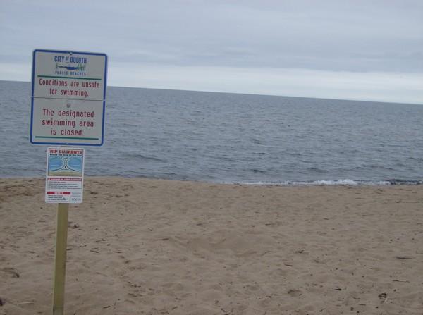 swimming area closed