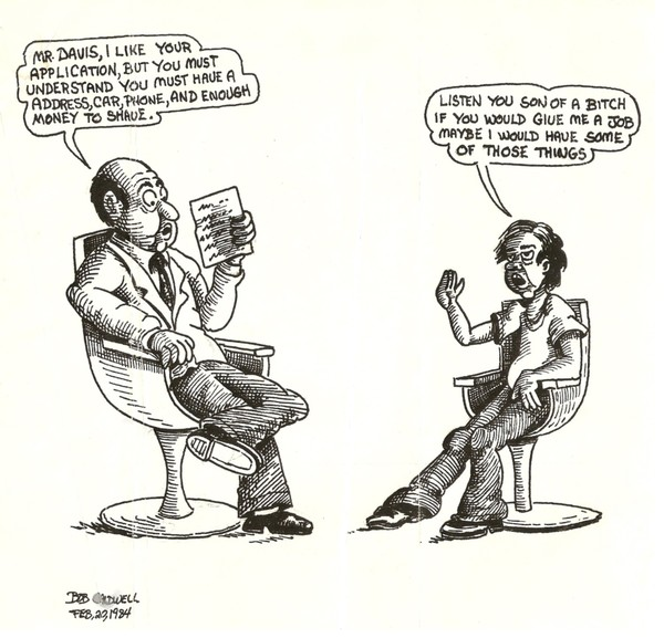 Cartoon, Social Commentary of 1983