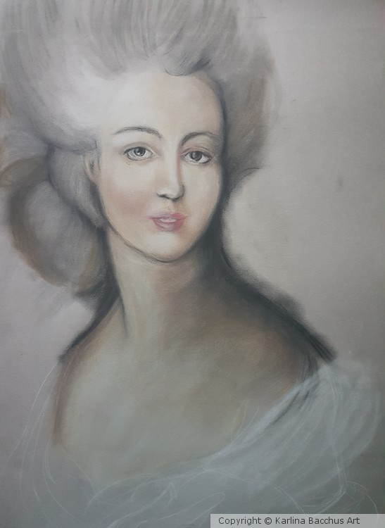 Study of Gainsborough in pastel on A2