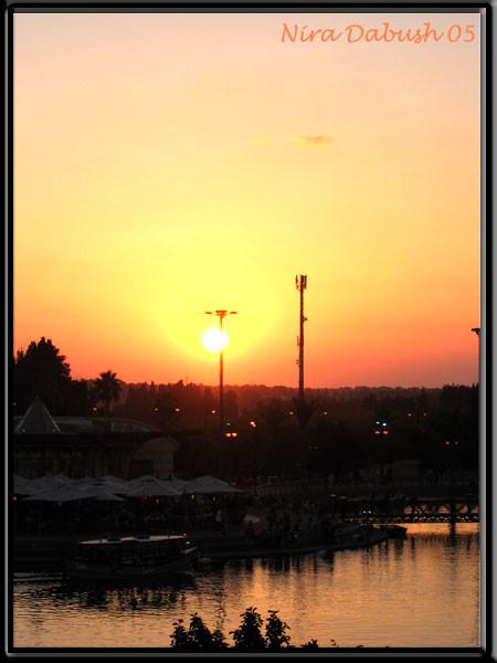 Sunset at Ra'anana Lake