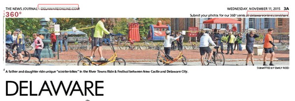 265th News Journal Panorama-Scooter Bikes