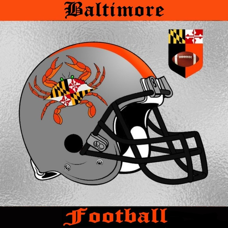 Baltimore Football Helmet