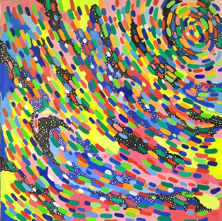 Wave signed acrylic