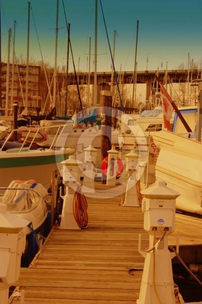 sunshine on the dock