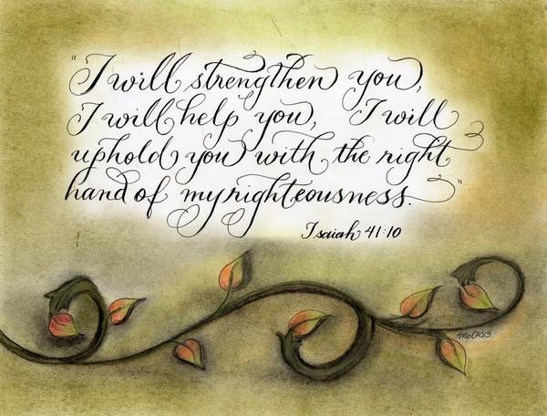 Comforting Verse handwritten artistic design