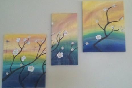 Pastel Japanese Blossoms