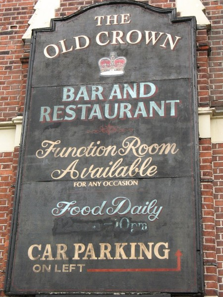 old crown pub, london