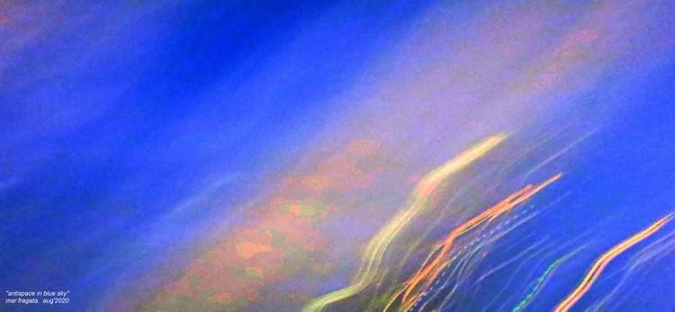 antispace in blue sky