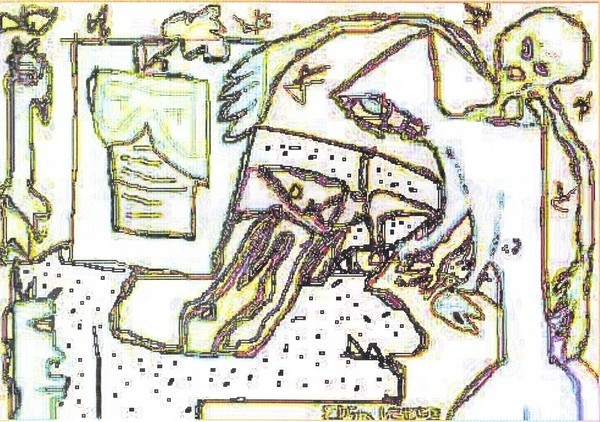 Inside Stephen King's Mind--rewind  /...digital art...(c) 2003...elton houck