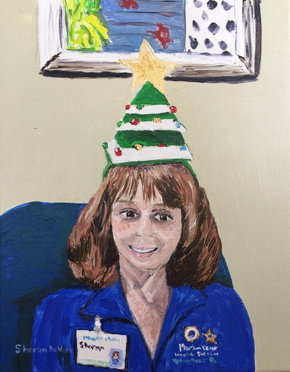 Self Portrait MPH Volunteer at Christmas