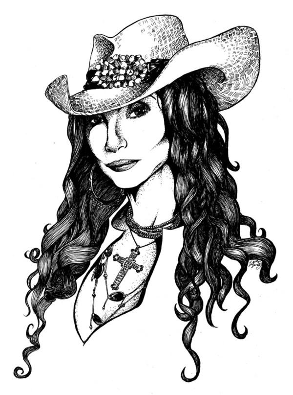 Cher ink Portrait