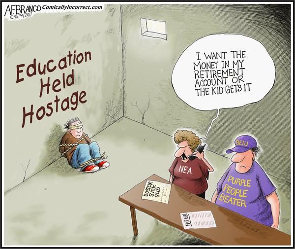 Education Held Hostage (Cartoon)