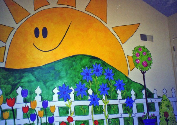 sun, meadow, fence